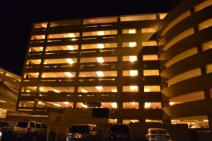 LED Lit Parking Structure