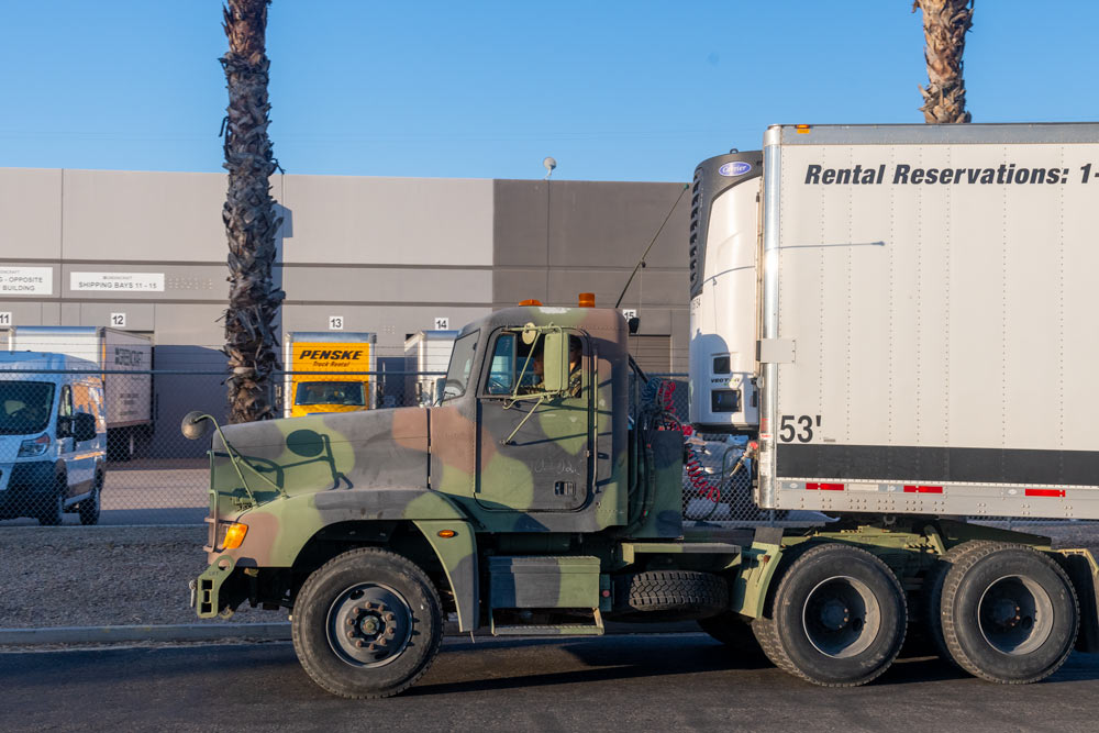 AZ National Guard loaded and rolling