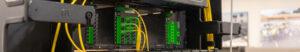 Fiber Optic Terminations on Rack